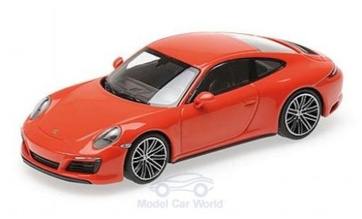Porsche 911 1/43 Minichamps (991.2) Carrera 4S orange 2016 diecast