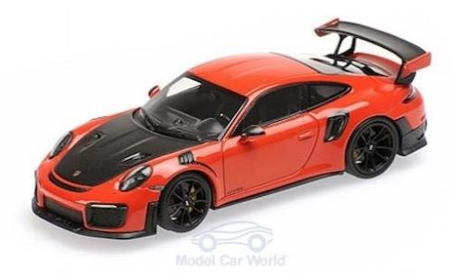 Porsche 991 GT2 RS 1/43 Minichamps 911 (.2) orange/noire 2018 miniature