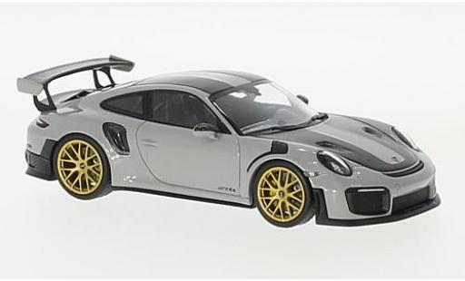 Porsche 991 GT2 RS 1/43 Minichamps 911 (.2) GT2RS grise/carbon 2018 Weissachpaket miniature