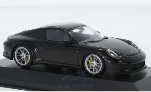Porsche 991 GT3 1/43 Minichamps 911 (.2) Touring metallise black 2018 diecast model cars