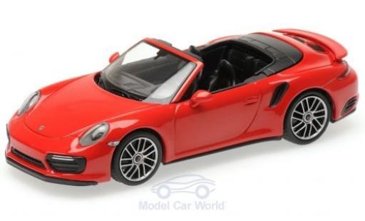 Porsche 991 Turbo S 1/43 Minichamps 911 (.2) Cabriolet rouge 2016 miniature