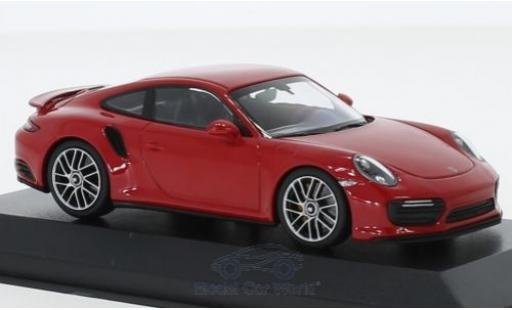 Porsche 911 1/43 Minichamps (991.2) Turbo S rouge 2017 miniature