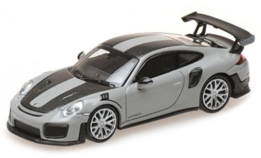 Porsche 991 GT2 RS 1/87 Minichamps 911  grey 2018 avec Carbon-Streifen diecast model cars