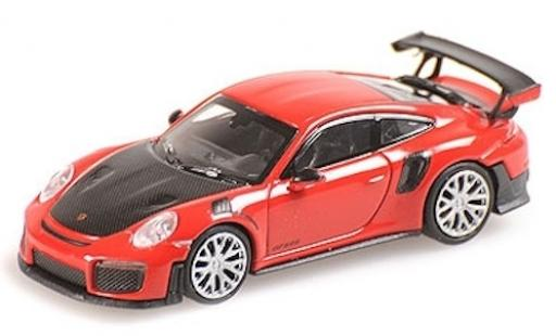 Porsche 991 GT2 RS 1/87 Minichamps 911  red 2018 avec Carbon-Capot diecast model cars
