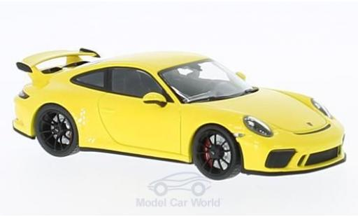Porsche 991 GT3 1/43 Minichamps 911  yellow 2016 diecast model cars
