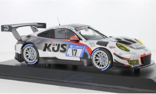 Porsche 911 1/18 Minichamps (991) GT3 R No.17 Kues Team 75 Bernhard 24h Nürburgring 2018 M.Christensen/M.Cairoli/A.Lotterer/J.Bergmeister miniature