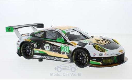 Porsche 991 GT3 R 1/18 Minichamps 911  No.28 Alegra Motorsports 24h Daytona 2017 C.de Quesada/M.Christensen/D.Morad/J.Lazare diecast model cars