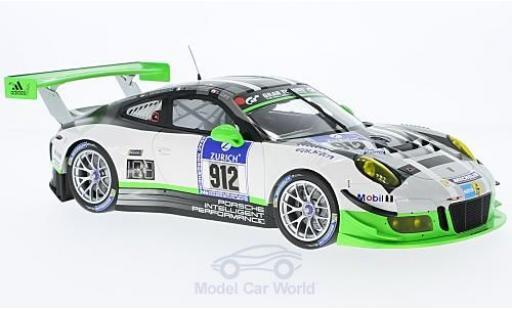 Porsche 991 GT3 R 1/18 Minichamps 911  No.912 24h Nürburgring 2016 M.Christensen/J.Bergmeister/F.Makowiecki/R.Lietz miniature