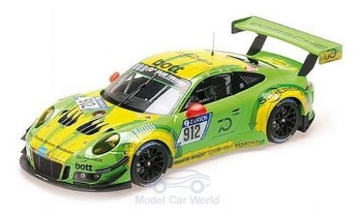 Porsche 911 1/18 Minichamps (991) GT3 R No.912 Manthey Racing 24h Nürburgring 2018 R.Lietz/P.Pilet/F.Makowiecki/N.Tandy miniatura