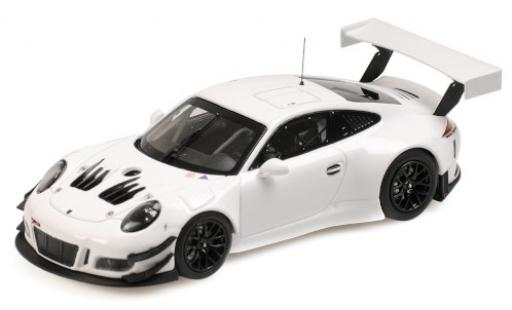 Porsche 991 GT3 R 1/43 Minichamps 911  blanche 2018 Plain Body Version miniature