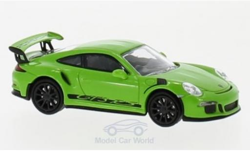 Porsche 991 GT3 RS 1/87 Minichamps 911  green/black 2013 diecast model cars