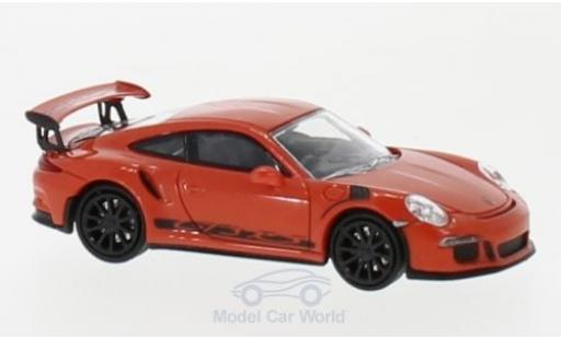 Porsche 911 1/87 Minichamps (991) GT3 RS orange/noire 2013 miniature
