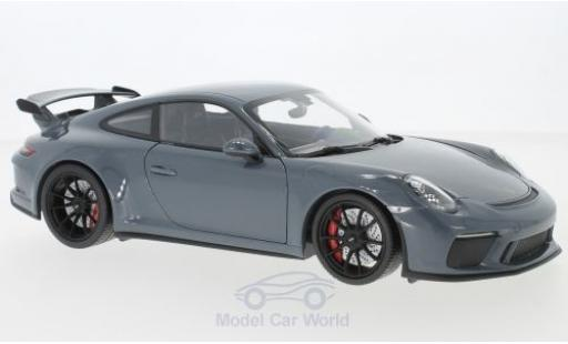 Porsche 991 GT3 1/18 Minichamps 911 ( II) metallise grey 2017 diecast model cars
