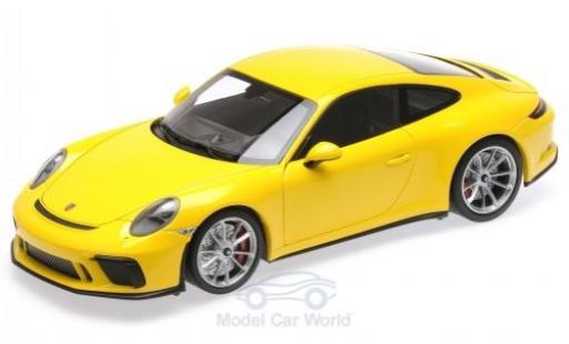 Porsche 991 GT3 1/18 Minichamps 911 (.II) Touring yellow 2018 diecast model cars