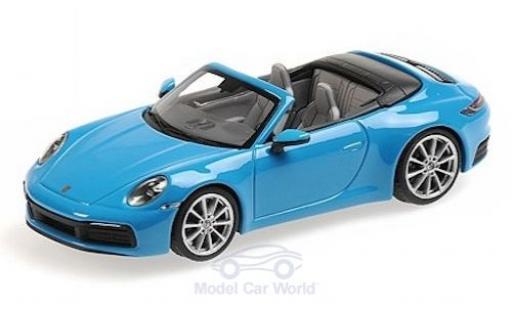 Porsche 911 1/43 Minichamps (992) Carrera 4S Cabriolet blau 2019 modellautos