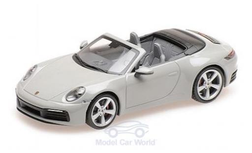 Porsche 911 1/43 Minichamps (992) Carrera 4S Cabriolet grise 2019 miniature