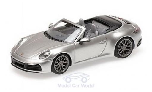 Porsche 992 4S 1/43 Minichamps 911  Carrera Cabriolet grise 2019 miniature