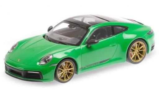 Porsche 992 4S 1/18 Minichamps 911  Carrera green 2019 diecast model cars