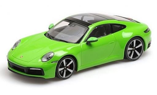 Porsche 911 1/18 Minichamps (992) Carrera 4S verde 2019 miniatura