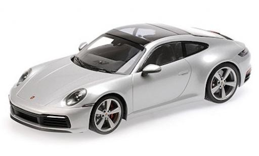 Porsche 992 4S 1/18 Minichamps 911  Carrera grey 2019 diecast model cars