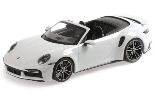 Porsche 992 Turbo s 1/18 Minichamps 911  Turbo S Cabriolet metallise white 2020 diecast model cars
