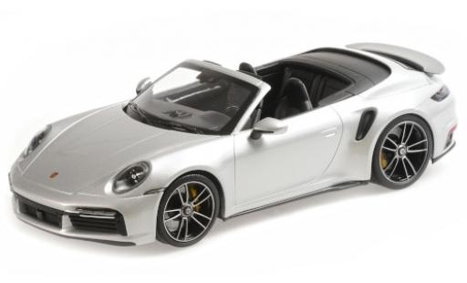 Porsche 992 Turbo s 1/18 Minichamps 911  Turbo S Cabriolet grise 2020 miniature