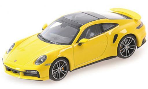 Porsche 992 Turbo s 1/18 Minichamps 911  Turbo S yellow 2020 diecast model cars