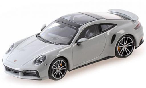 Porsche 992 Turbo s 1/43 Minichamps 911  Turbo S grise 2020 miniature