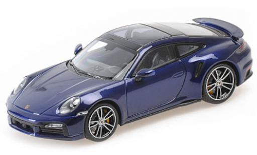 Porsche 992 Turbo s 1/43 Minichamps 911  Turbo S metallise bleue 2020 miniature