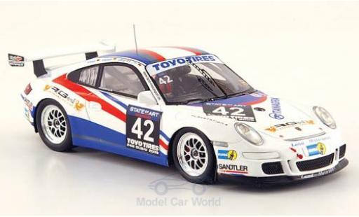 Porsche 997 SC 1/43 Minichamps (997) GT3 Cup No.42 24h Dubai 2009 Tilke/Abergel/Kentenich/Dzikevic miniature