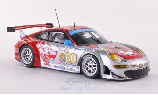 Porsche 997 GT3 RSR 1/43 Minichamps 911  No.80 Flying Lizard Motorsports Le Mans 24h Le Mans 2009 J.Bergmeister/S.Neiman/D.Law coche miniatura