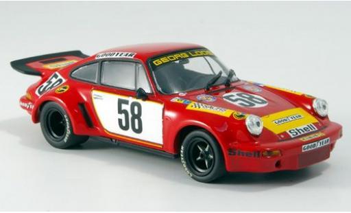 Porsche 911 1/43 Minichamps Carrera RSR 3.0 No.58 Gelo Racing Team 24h Le Mans 1975 J.Fitzpatrick/G.van Lennep/M.Schurti sans Vitrine miniature