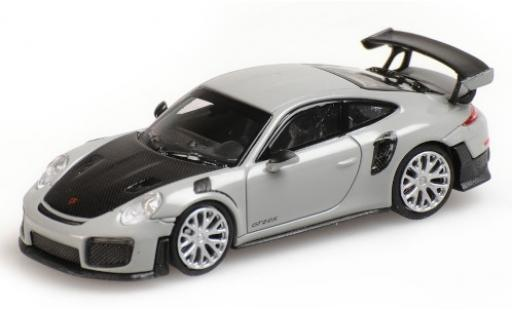 Porsche 991 GT2 RS 1/87 Minichamps 911 grey 2018 avec Carbon-Capot diecast model cars