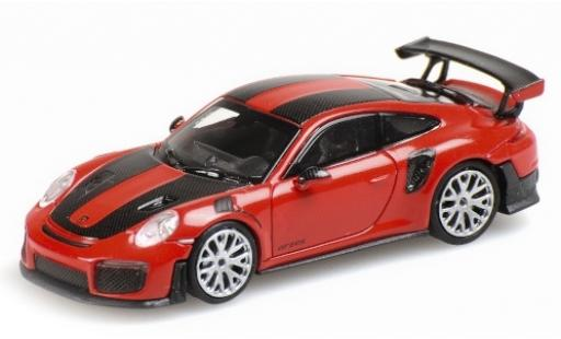 Porsche 991 GT2 RS 1/87 Minichamps 911 red 2018 avec Carbon-Streifen diecast model cars