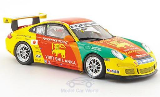 Porsche 997 SC 1/43 Minichamps GT3 Cup No.6 Asian Carrera Cup Macau 2007 miniature
