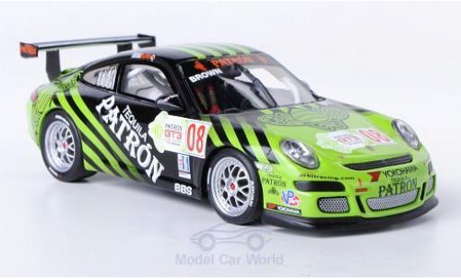 Porsche 997 GT3 CUP 1/43 Minichamps 911 GT3 Cup No.8 IMSA GT3 Cup Challenge 2009 E.Brown modellino in miniatura