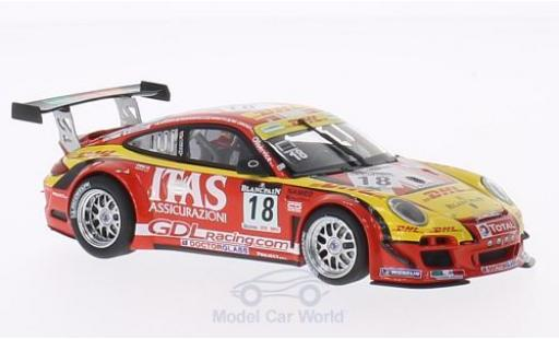 Porsche 911 1/43 Minichamps GT3 R No.18 De Lorenzi Racing 24h Spa 2011 miniature