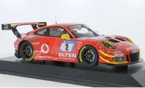 Porsche 991 GT3 R 1/18 Minichamps 911 No.2 Gigaspeed Team Getspeed Vodafone 24h Nürburgring 2018 S.Jans/M.Böckmann/J.E.Slooten/L.Luhr modellino in miniatura