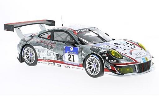 Porsche 991 GT3 R 1/18 Minichamps 911 No.21 WTM-Racing Wochenspiegel 24h Nürburgring 2016 M.Stursberg/J.Krumbach/O.Kainz/G.Weiss modellino in miniatura