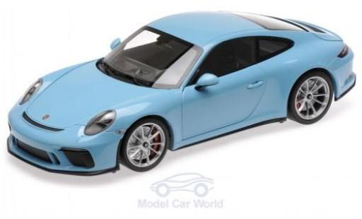 Porsche 991 GT3 1/18 Minichamps 911 Touring bleue 2018 miniature