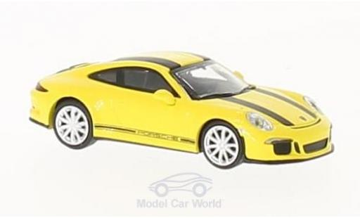 Porsche 991 R 1/87 Minichamps 911 yellow/black 2016 diecast model cars
