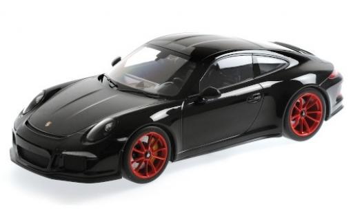 Porsche 911 1/12 Minichamps R noire 2016 rouge jantes miniature