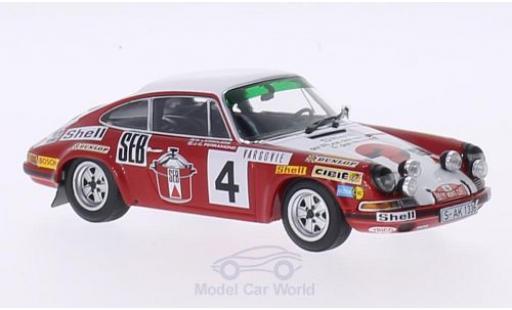 Porsche 911 1/43 Minichamps S No.4 SEB Rallye WM Rally Monte Carlo 1972 G.Larrousse/C.Perramond miniature