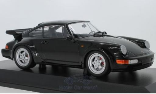 Porsche 911 1/18 Minichamps Turbo (964) black 1990 diecast