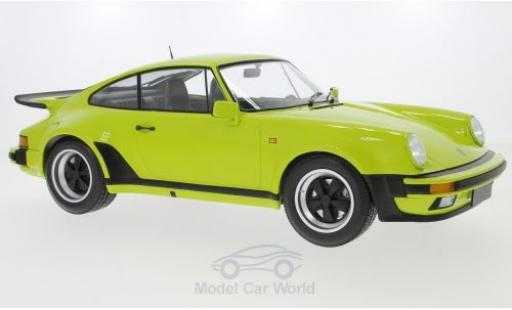 Porsche 911 1/12 Minichamps Turbo verte 1977 miniature