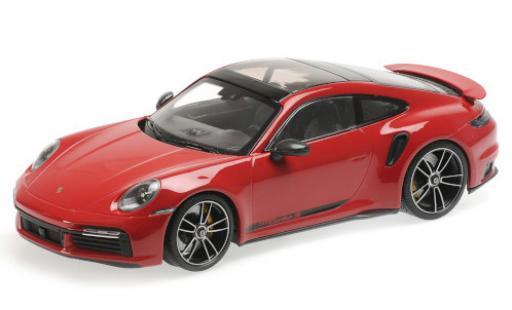 Porsche 992 Turbo s 1/18 Minichamps 911 Turbo S  red/Dekor 2020 diecast model cars