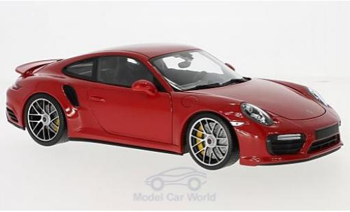 Porsche 991 Turbo 1/18 Minichamps Turbo S rouge 2016 miniature