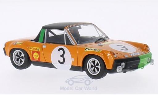 Porsche 914 1/43 Minichamps /6 No.3 Marathon de la Route 1970 B.Waldegard/J.Andersson/Chasseuil miniature