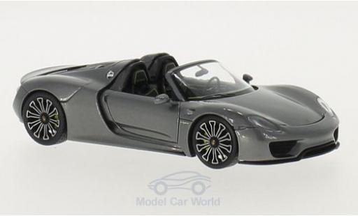 Porsche 918 1/43 Minichamps Spyder métallisé grise 2013 miniature