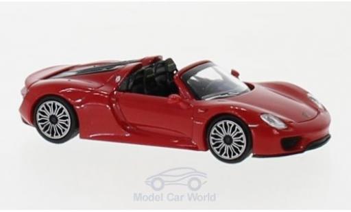 Porsche 918 1/87 Minichamps Spyder red 2015 diecast model cars